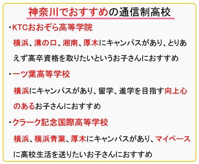 神奈川でおすすめの通信制高校3選