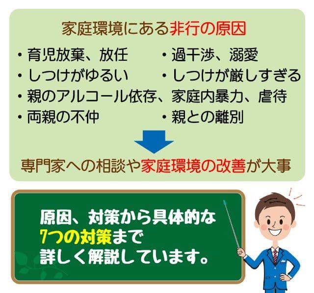 【家庭環境にある2つの非行の原因】更生させる7つの対策を徹底解説