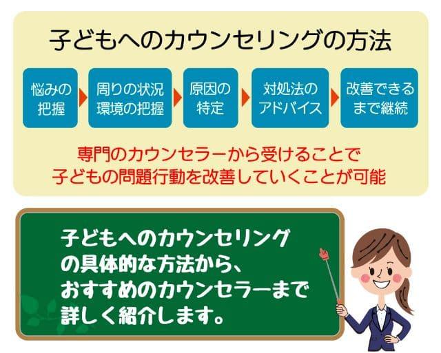 【子どもカウンセリングの方法とは】問題行動改善のポイントを徹底解説