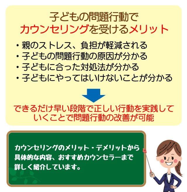 【カウンセリングで改善可】子どもの問題行動が改善する理由と流れ