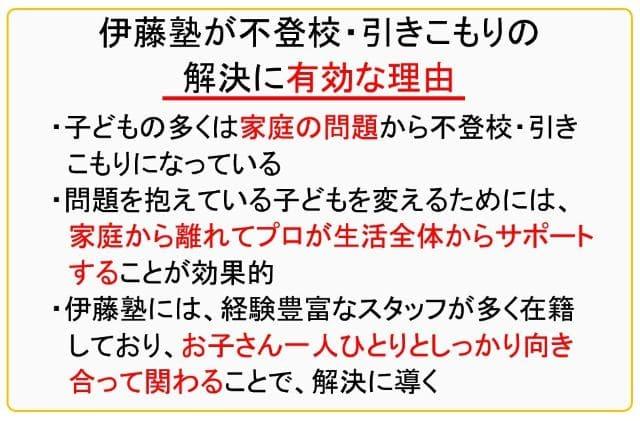 伊藤幸弘塾が不登校・引きこもりに有効な理由